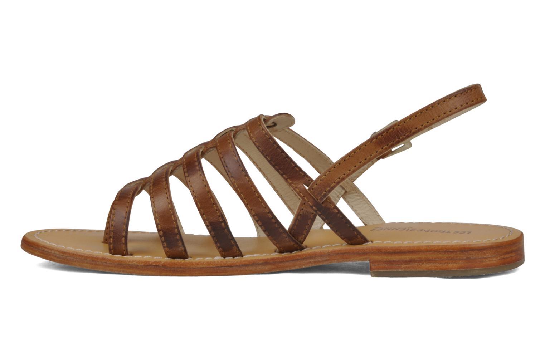 Sandals Les Tropéziennes par M Belarbi Heriber Brown front view