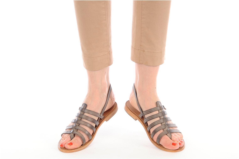 Sandales et nu-pieds Les Tropéziennes par M Belarbi Heriber Gris vue bas / vue portée sac