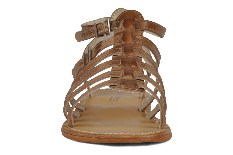 Sandales et nu-pieds Les Tropéziennes par M Belarbi Hicare Beige vue portées chaussures