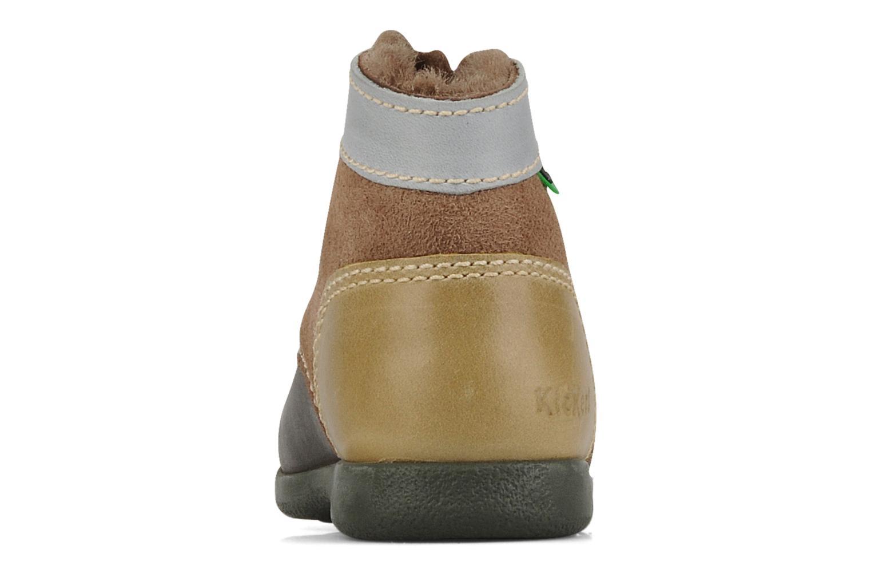 Boots en enkellaarsjes Kickers Babyski Bruin rechts