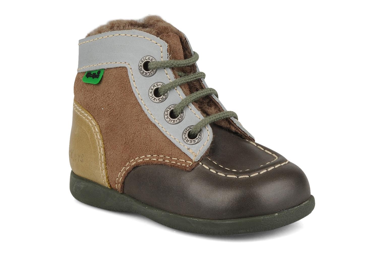 Bottines et boots Kickers Babyski Marron vue détail/paire