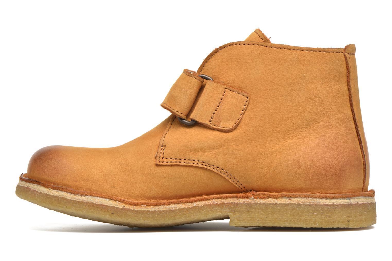 Zapatos con velcro Kickers Rekick Marrón vista de frente