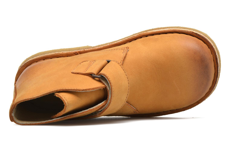 Zapatos con velcro Kickers Rekick Marrón vista lateral izquierda