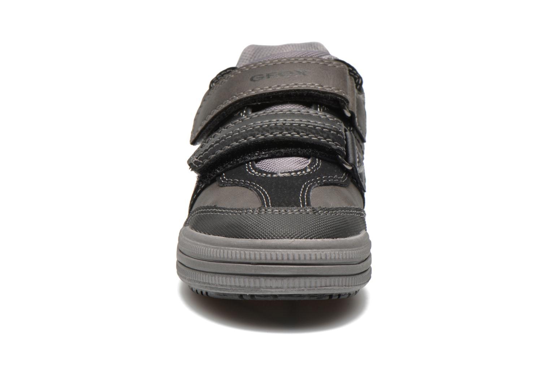 Sneaker Geox J elvis b grau schuhe getragen