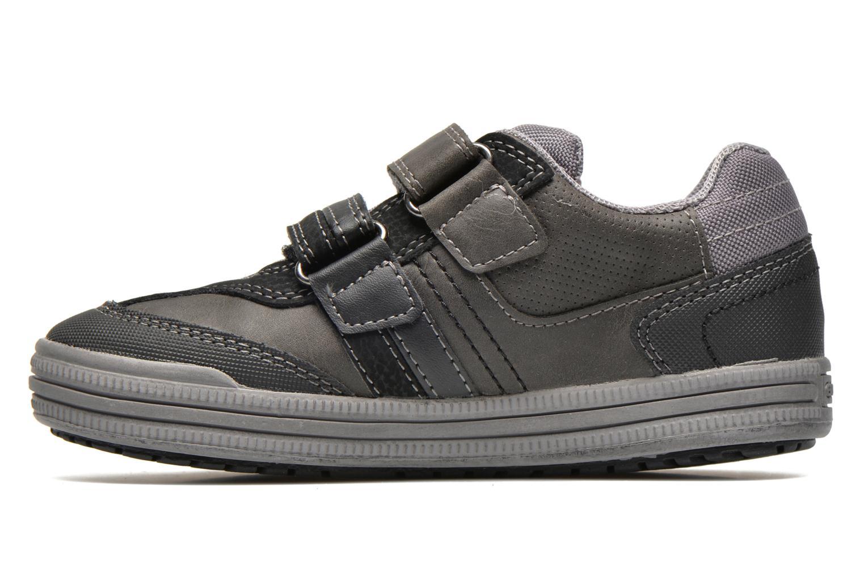 Sneaker Geox J elvis b grau ansicht von vorne