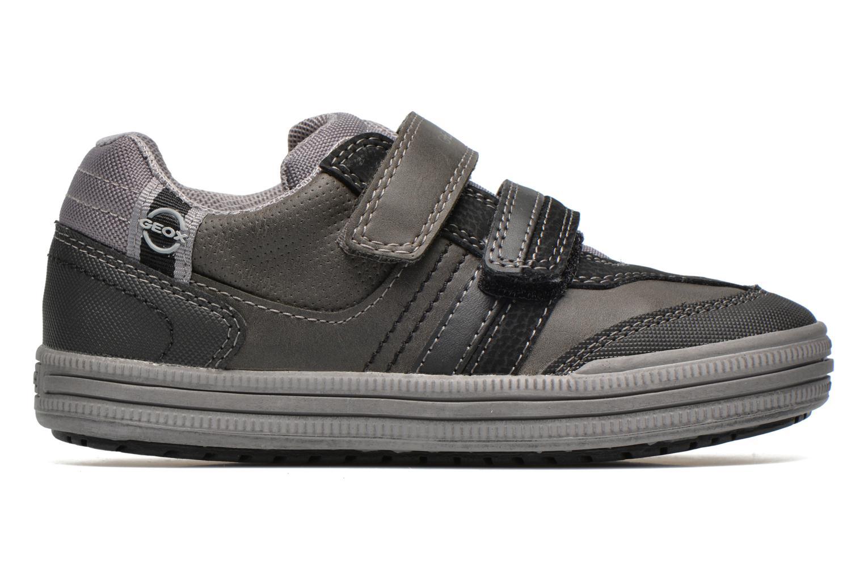 Sneaker Geox J elvis b grau ansicht von hinten