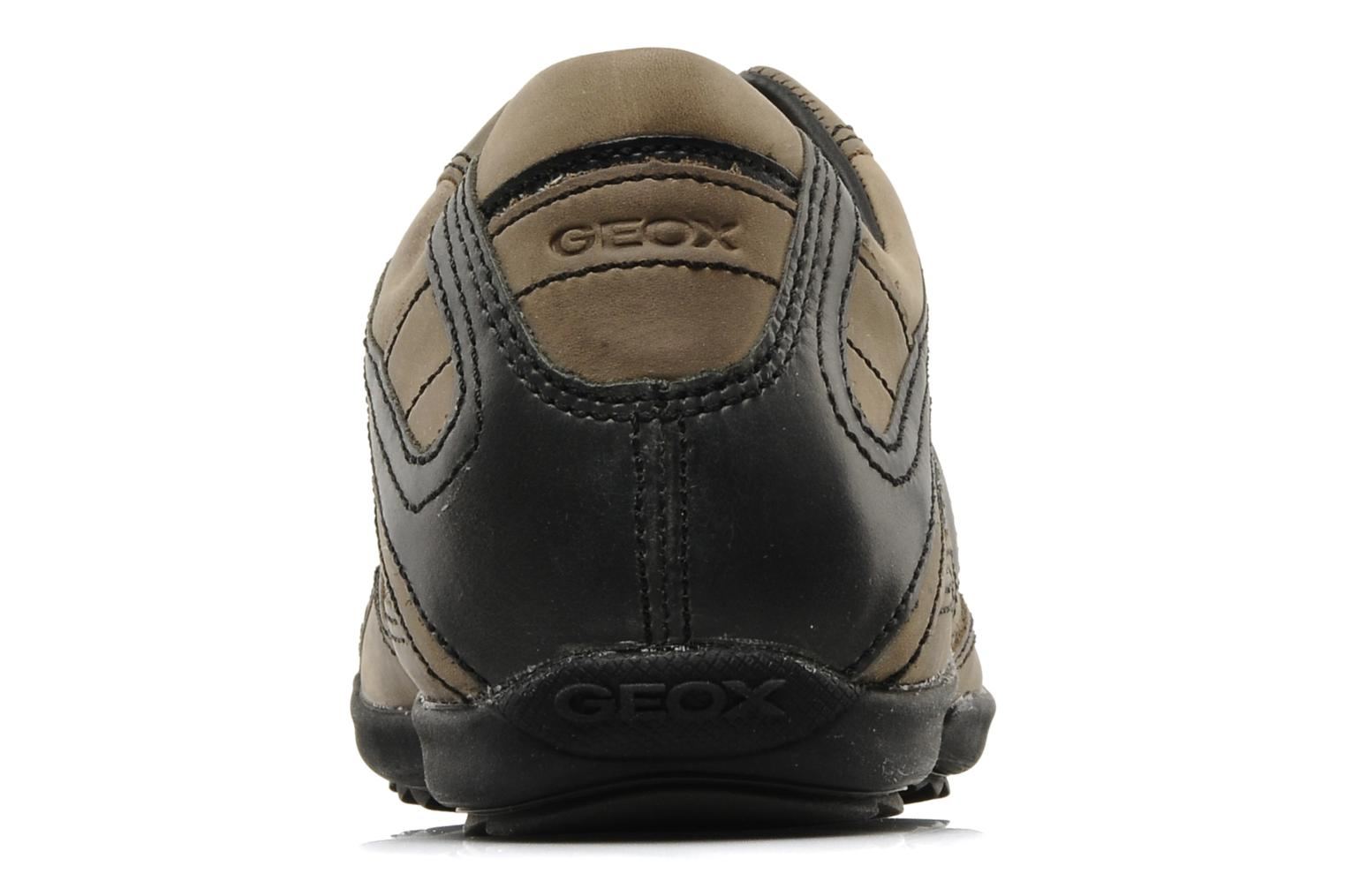 Trainers Geox U pietro r Brown view from the right