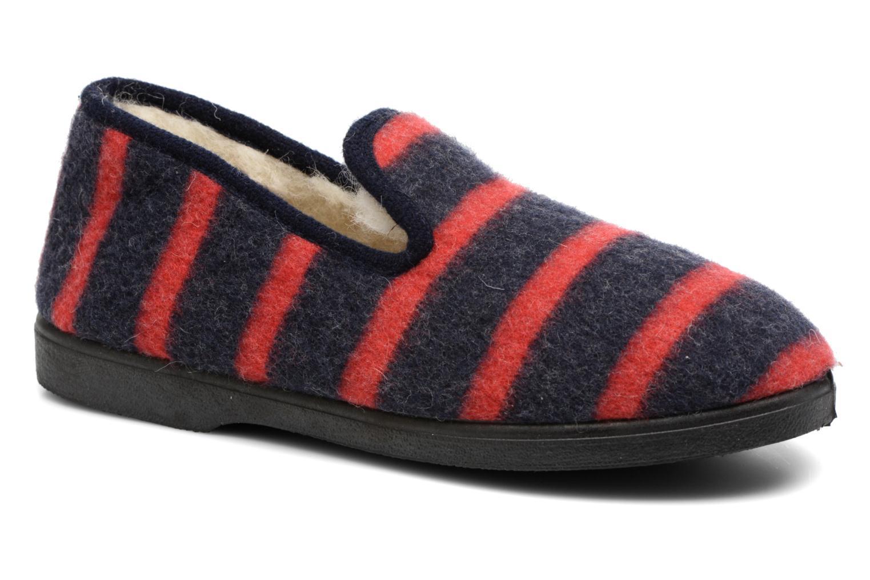 Hjemmesko Rondinaud Morlaix Blå detaljeret billede af skoene