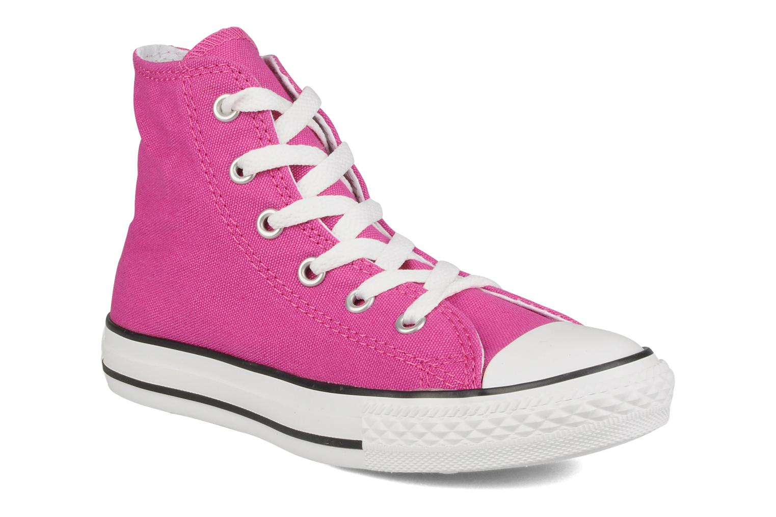 7a1f5f31193cac Trainers Converse Chuck Taylor All Star Hi K Pink detailed view  Pair view