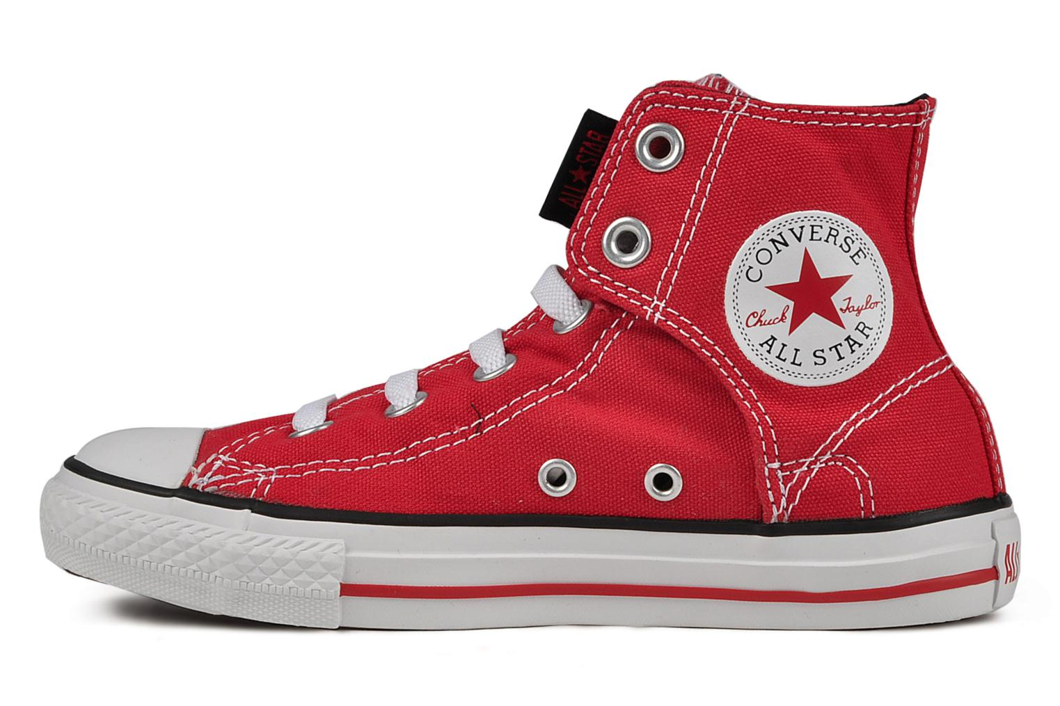 Baskets Converse Chuck taylor all star easy slip hi K Rouge vue face