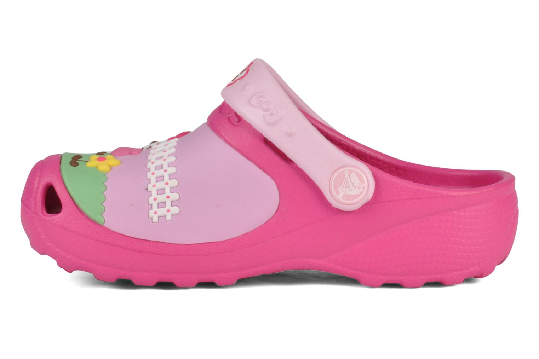 Sandalen Crocs Hello kitty custom clog Roze voorkant