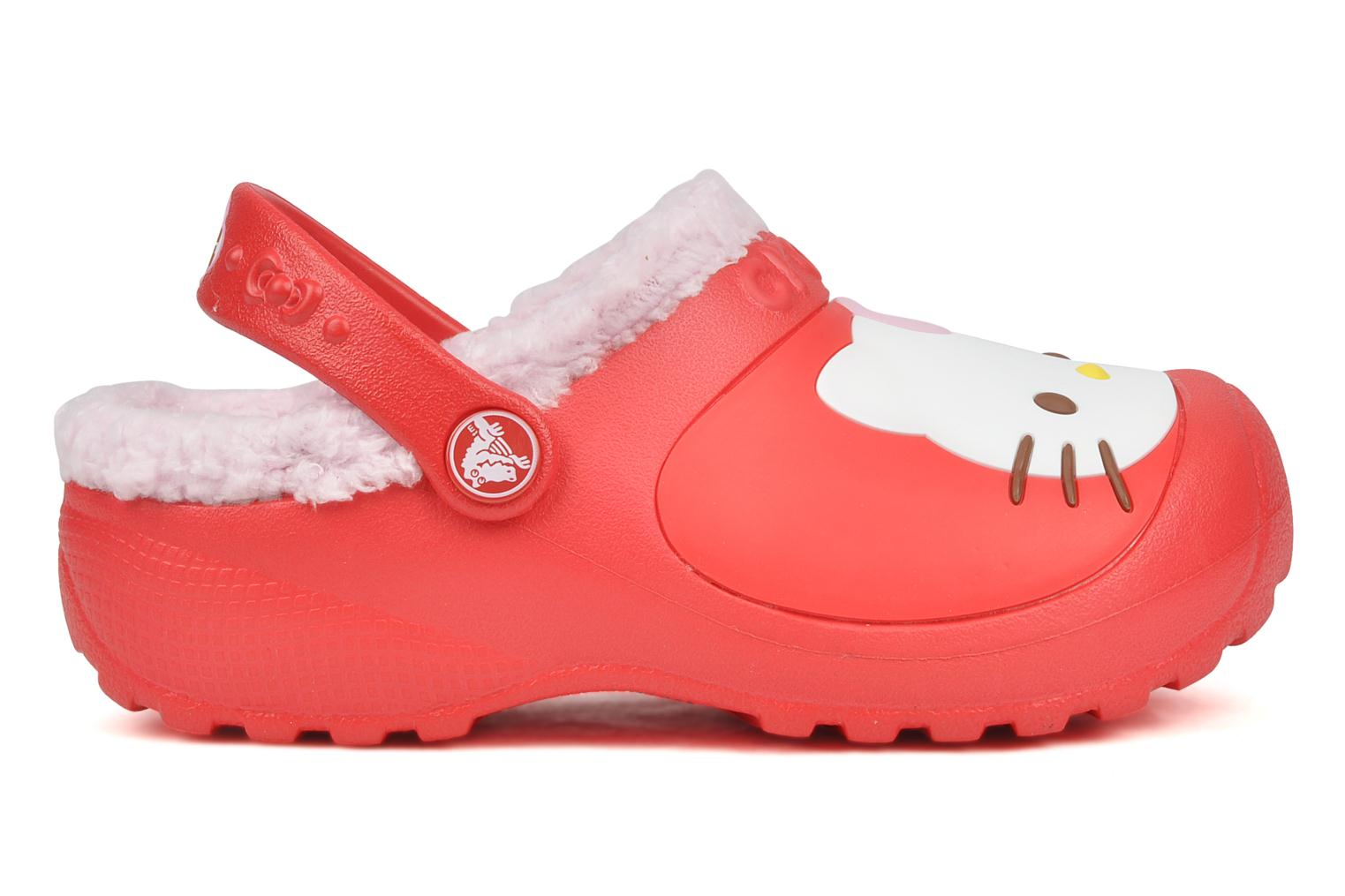 Sandals Crocs Hello kitty lined custom clog Red back view