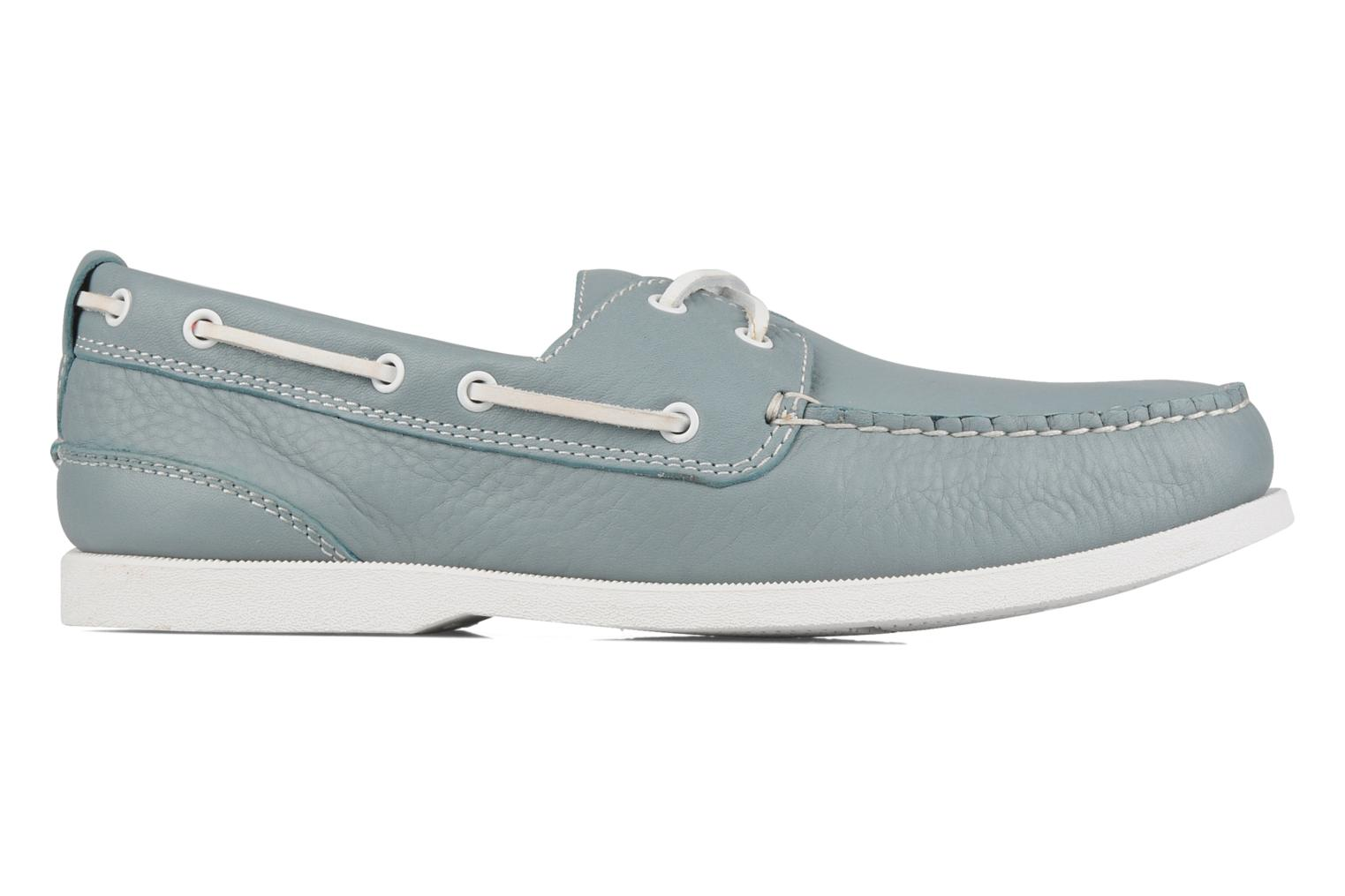 Lace-up shoes Rockport 2 eye boat Blue back view