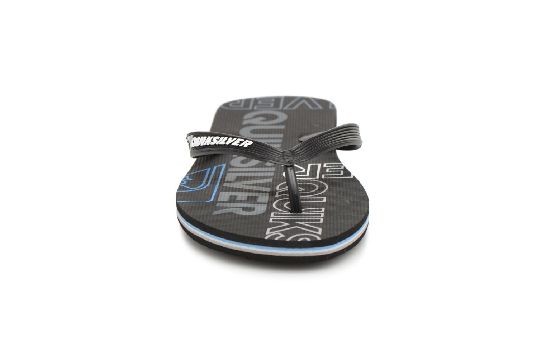 Flip flops Quiksilver Molokai nitro Black model view