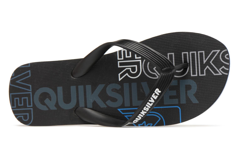Flip flops Quiksilver Molokai nitro Black view from the left
