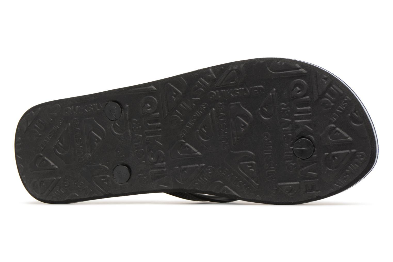 Flip flops Quiksilver Molokai nitro Black view from above