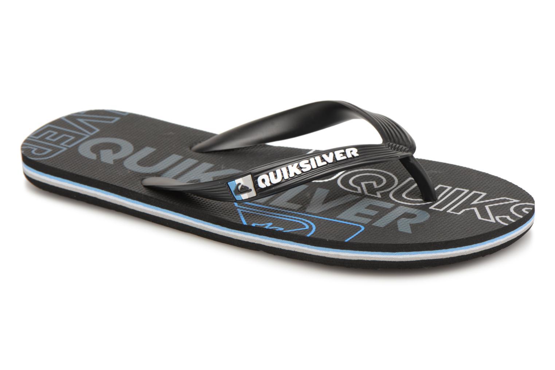 Flip flops Quiksilver Molokai nitro Black detailed view/ Pair view