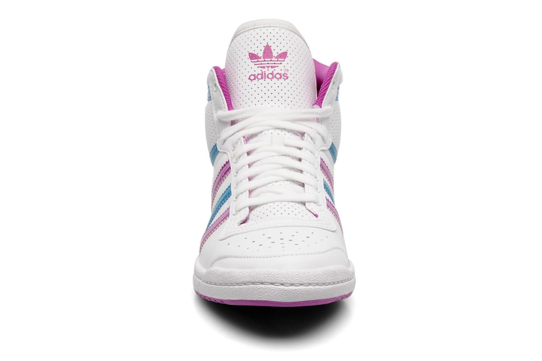 Top ten hi sleek w Running White Ftw / Vivid Pink S13 / Turquoise