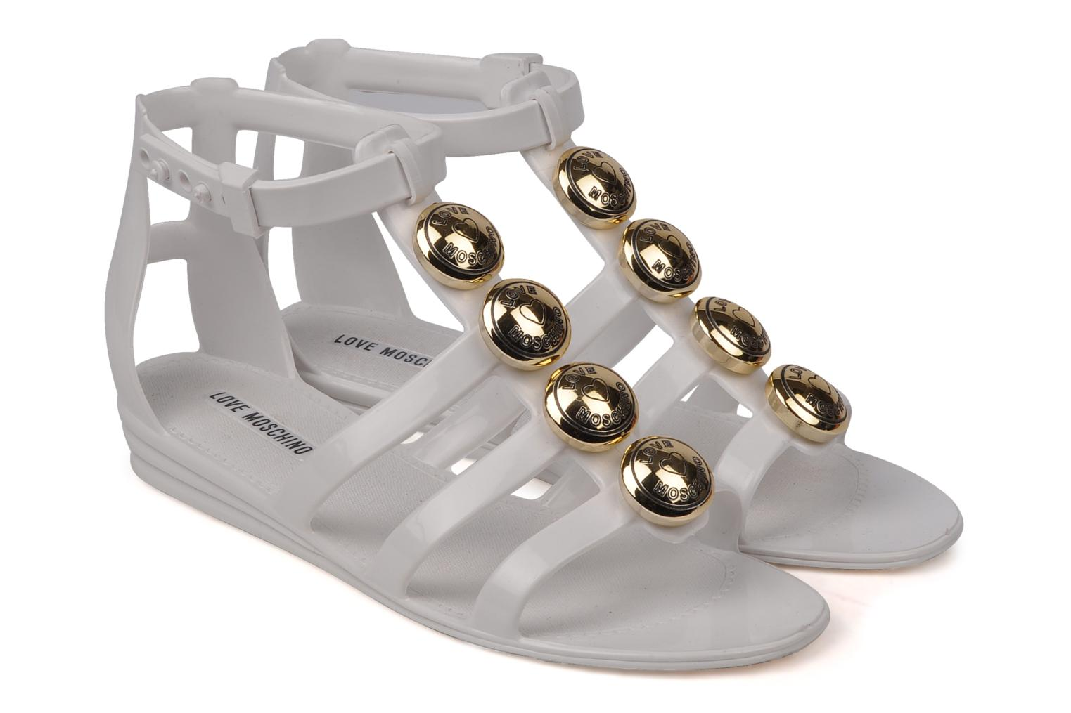 Sandales et nu-pieds Love Moschino Soon Blanc vue 3/4