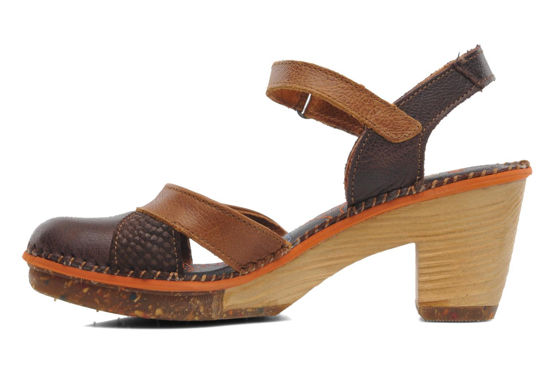 Sandales et nu-pieds Art Amsterdam 313 Marron vue face