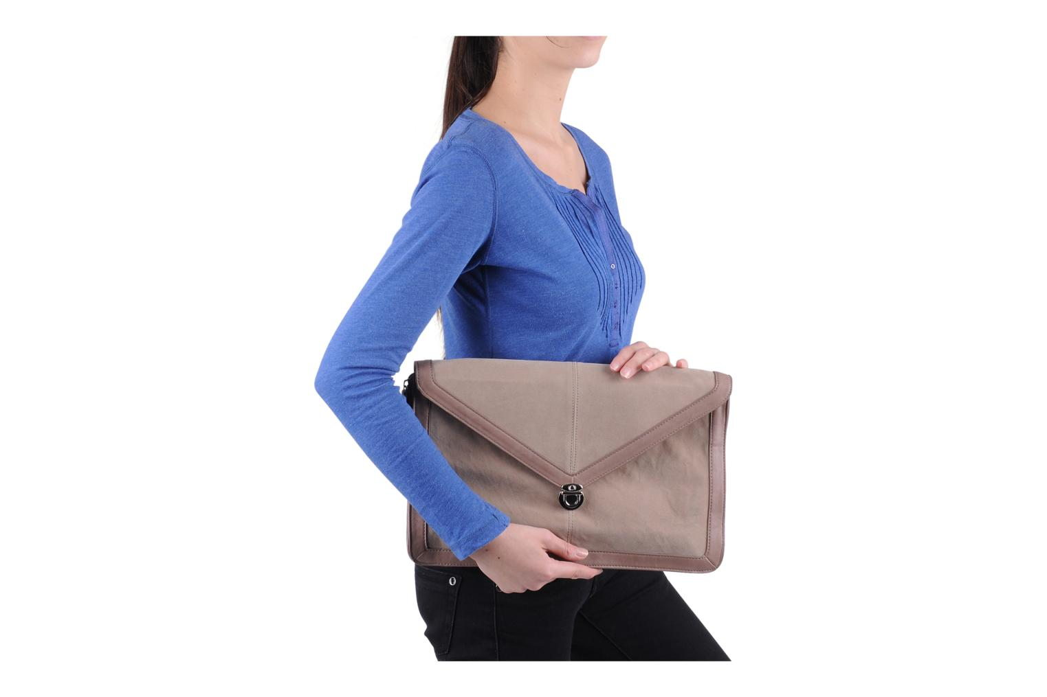 Clutch Friis & company Vintage clutch Beige boven