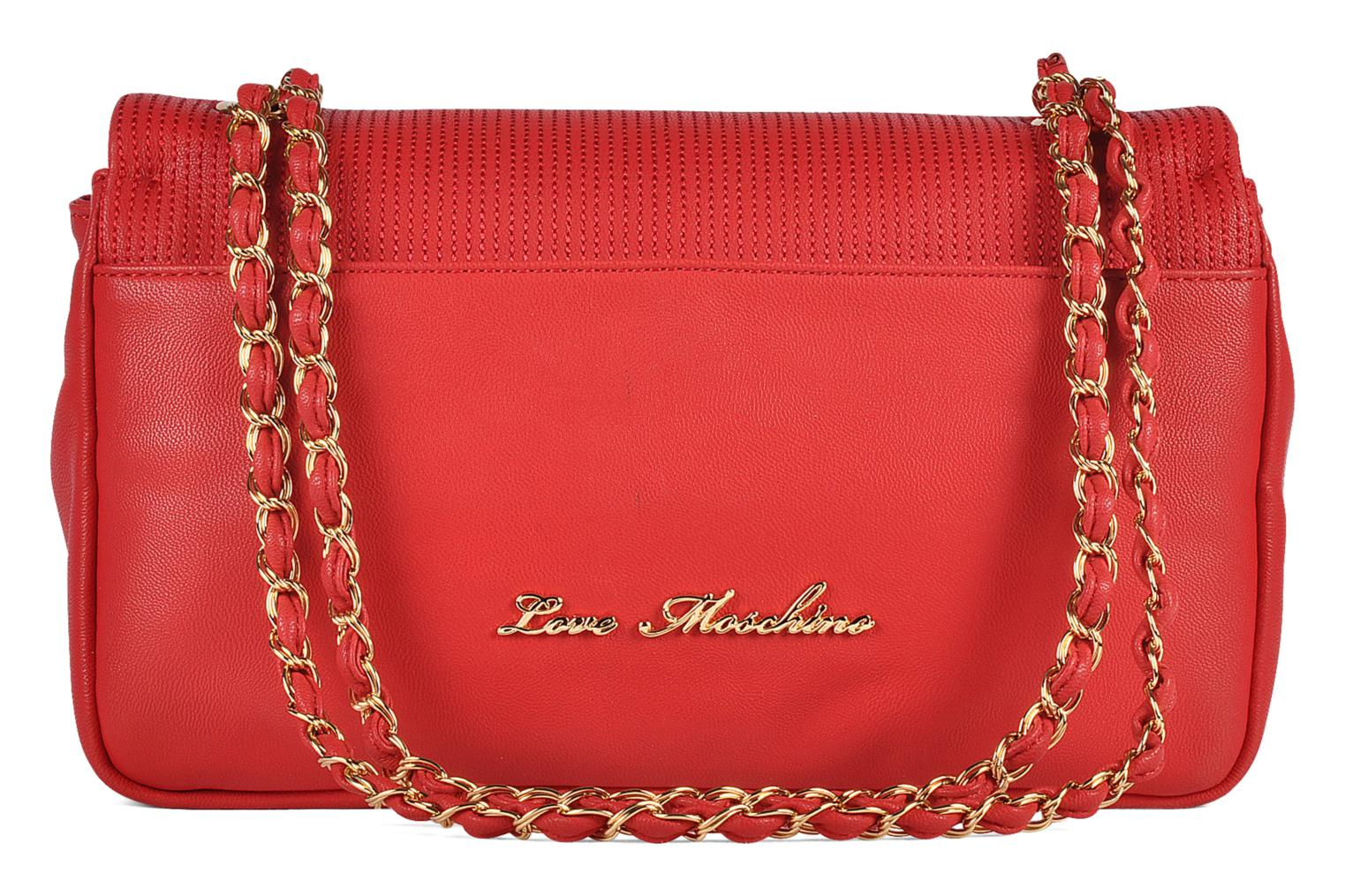Sacs à main Love Moschino Mosquilted flap Rouge vue face