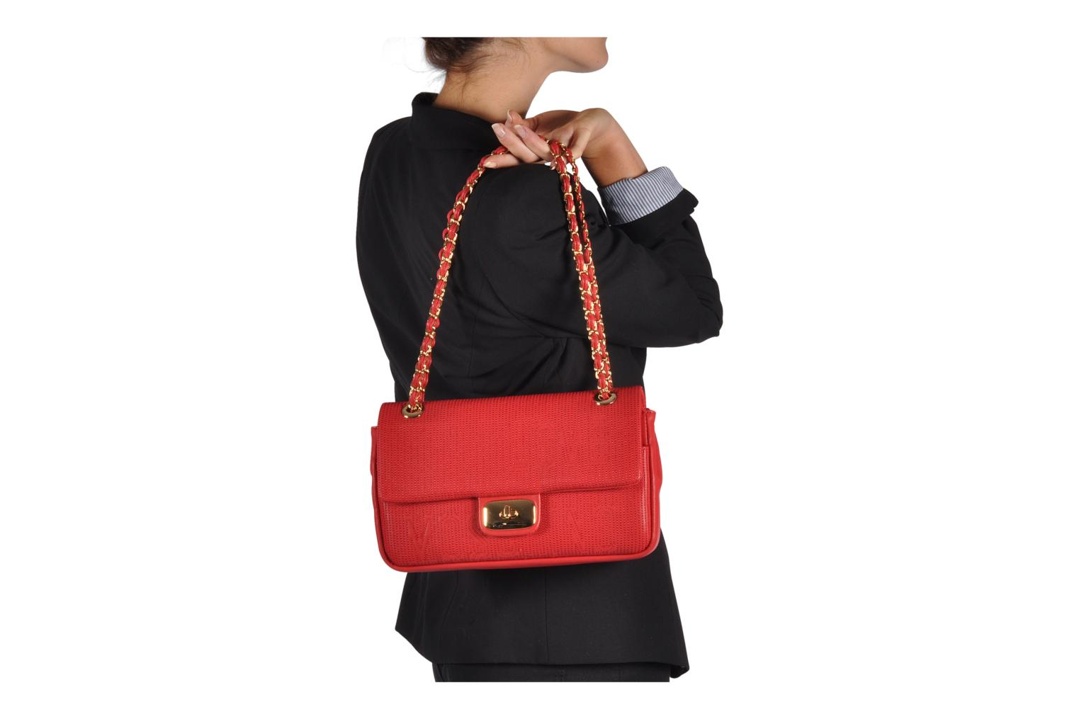Sacs à main Love Moschino Mosquilted flap Rouge vue haut