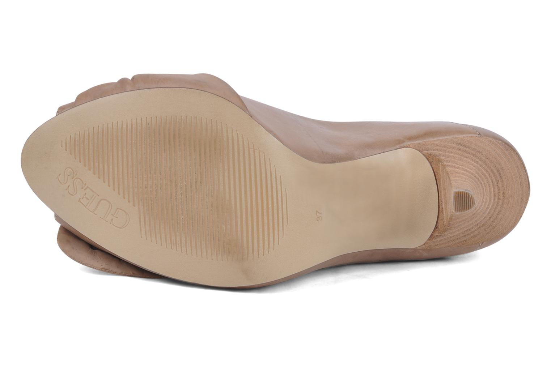 Zapatos de tacón Guess Tress Beige vista de arriba