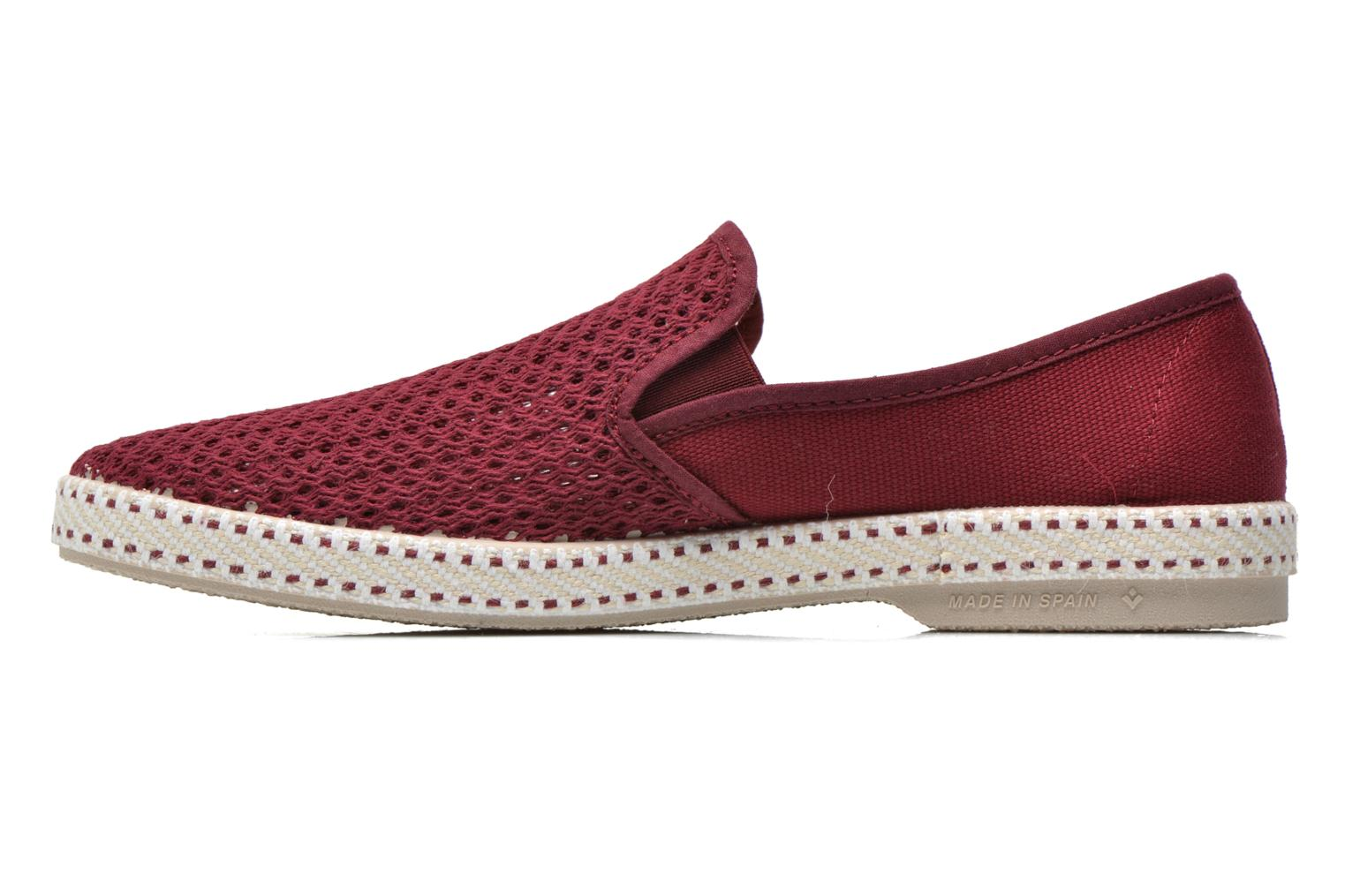 Mocassins Rivieras 20°c m Bordeaux vue face