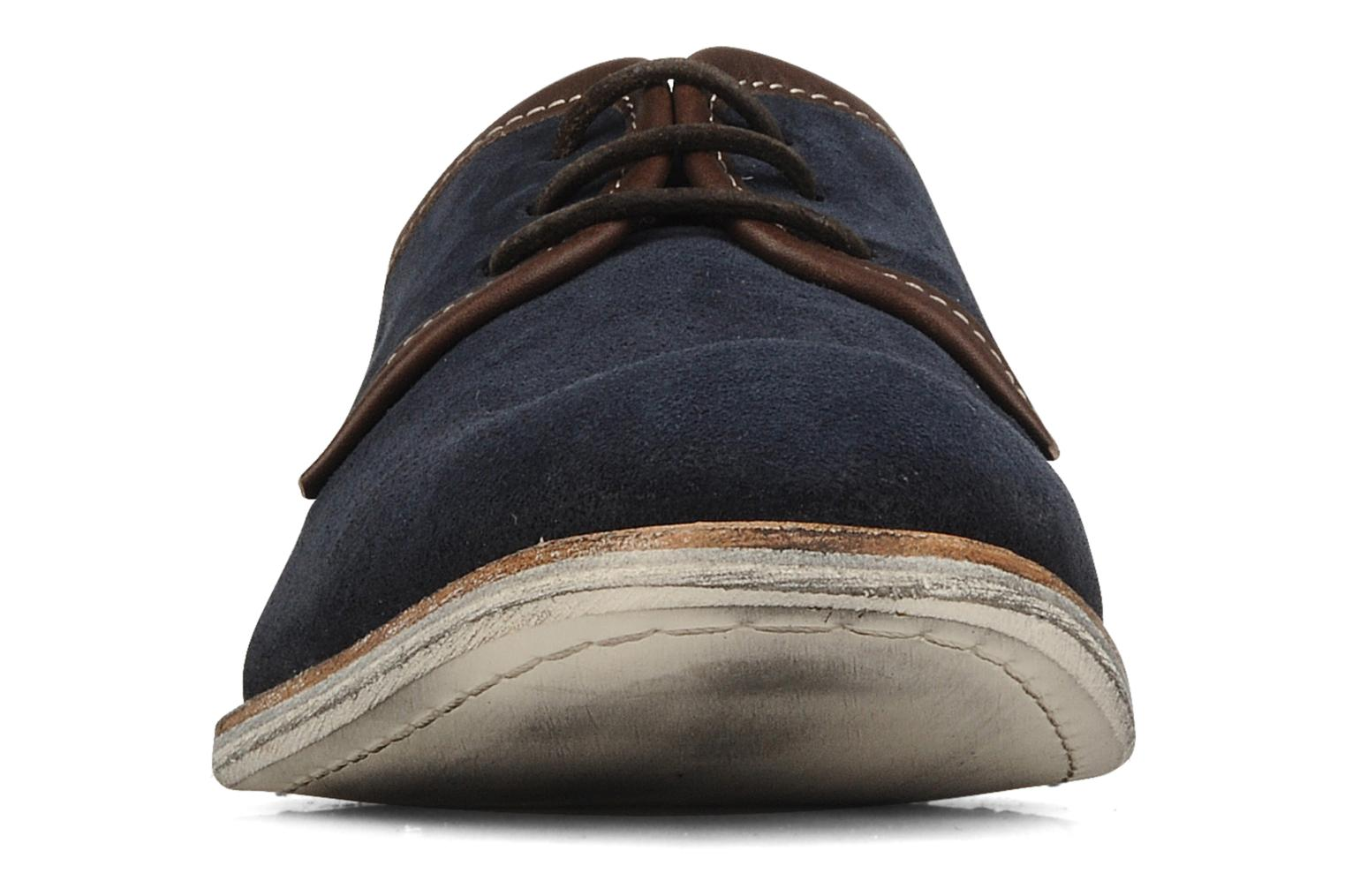 Lace-up shoes H by Hudson Rourke Blue model view