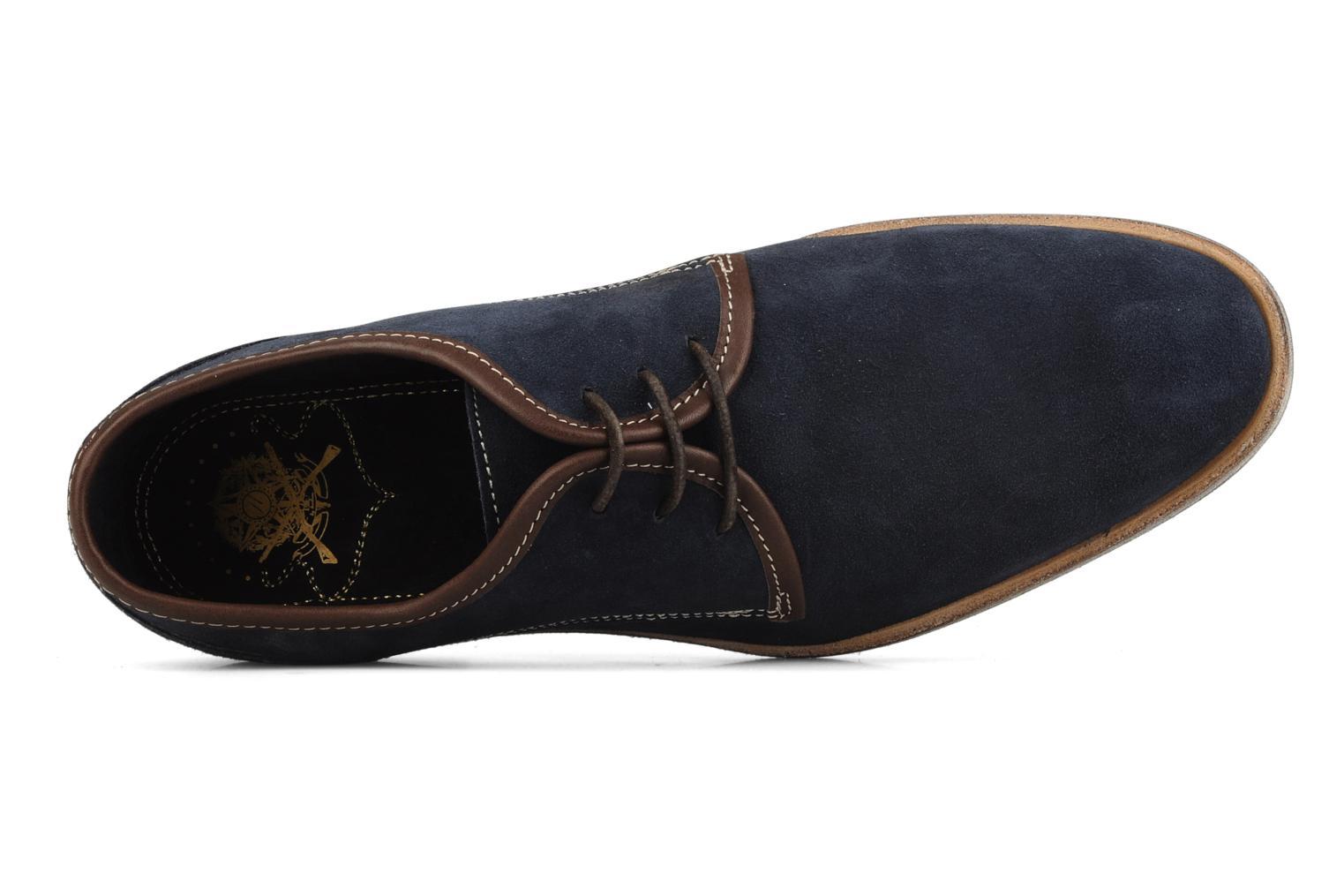 Lace-up shoes H by Hudson Rourke Blue view from the left
