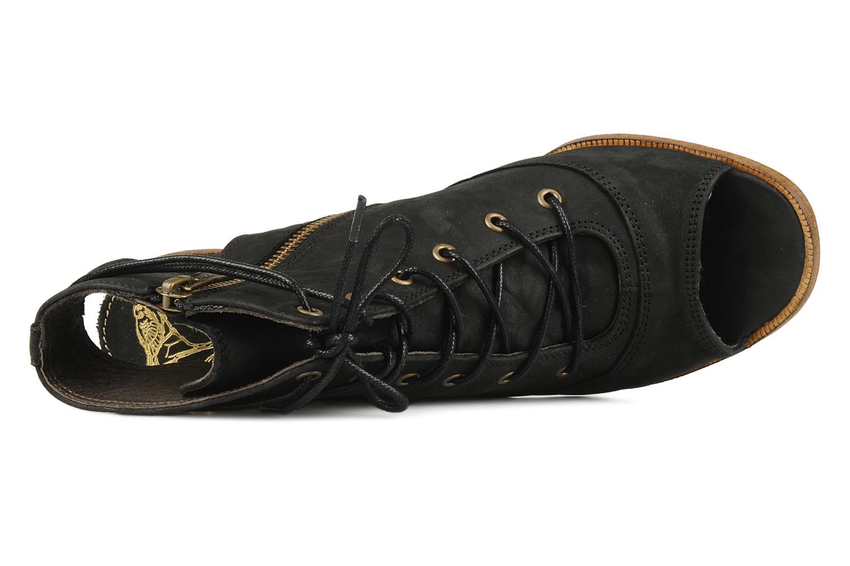 Sandales et nu-pieds H By Hudson Henshaw Noir vue gauche