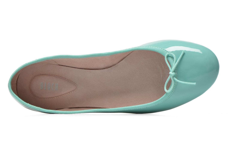 Ballerina's Bloch Patent ballerina Groen links
