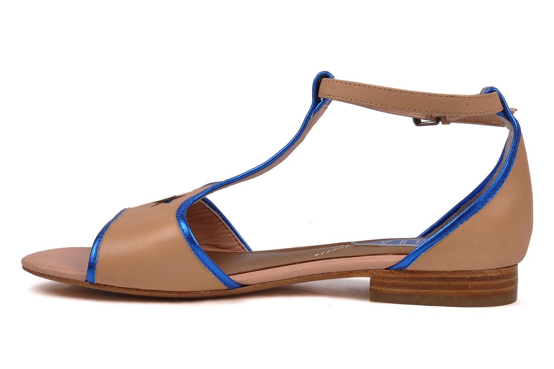 Sandales et nu-pieds C.Petula Starsky Beige vue face