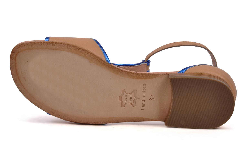 Sandales et nu-pieds C.Petula Starsky Beige vue haut