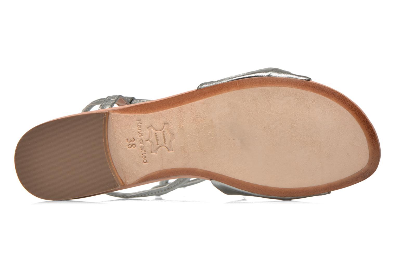 Sandales et nu-pieds C.Petula Rizzo Argent vue haut