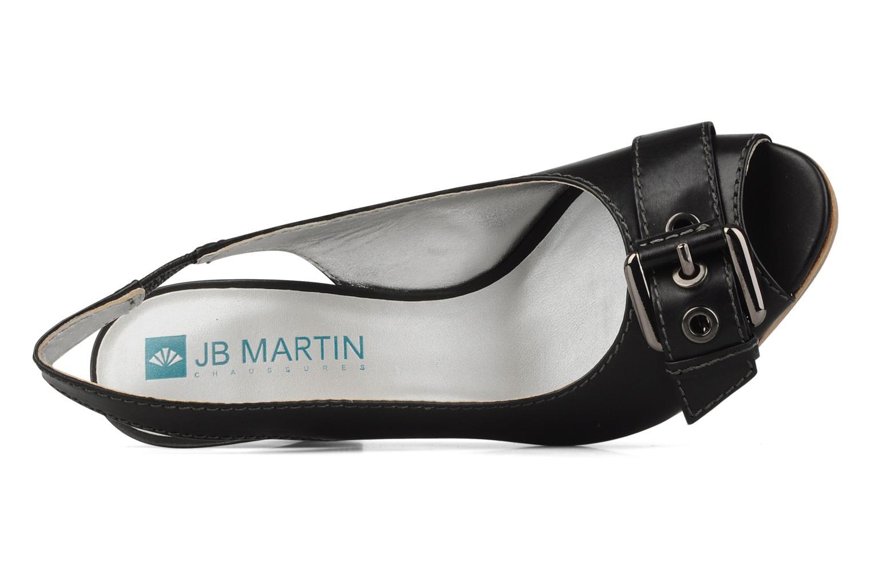 Sandales et nu-pieds JB MARTIN Otis Noir vue gauche