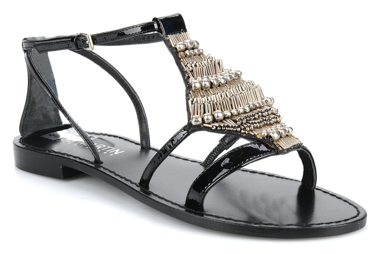 Sandales et nu-pieds JB MARTIN Allen Noir vue détail/paire