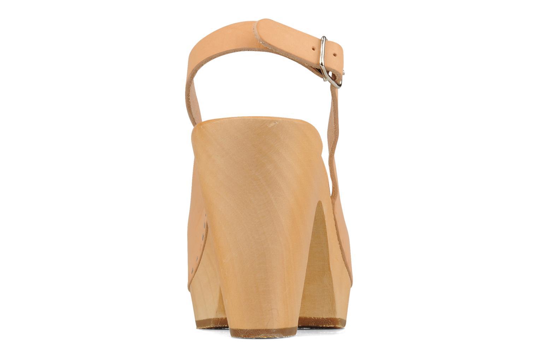 Peep toe sling back Naturel