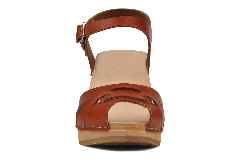 Sandalen Swedish Hasbeens Peep toe super high Rood model