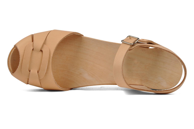 Sandales et nu-pieds Swedish Hasbeens Peep toe super high Beige vue gauche