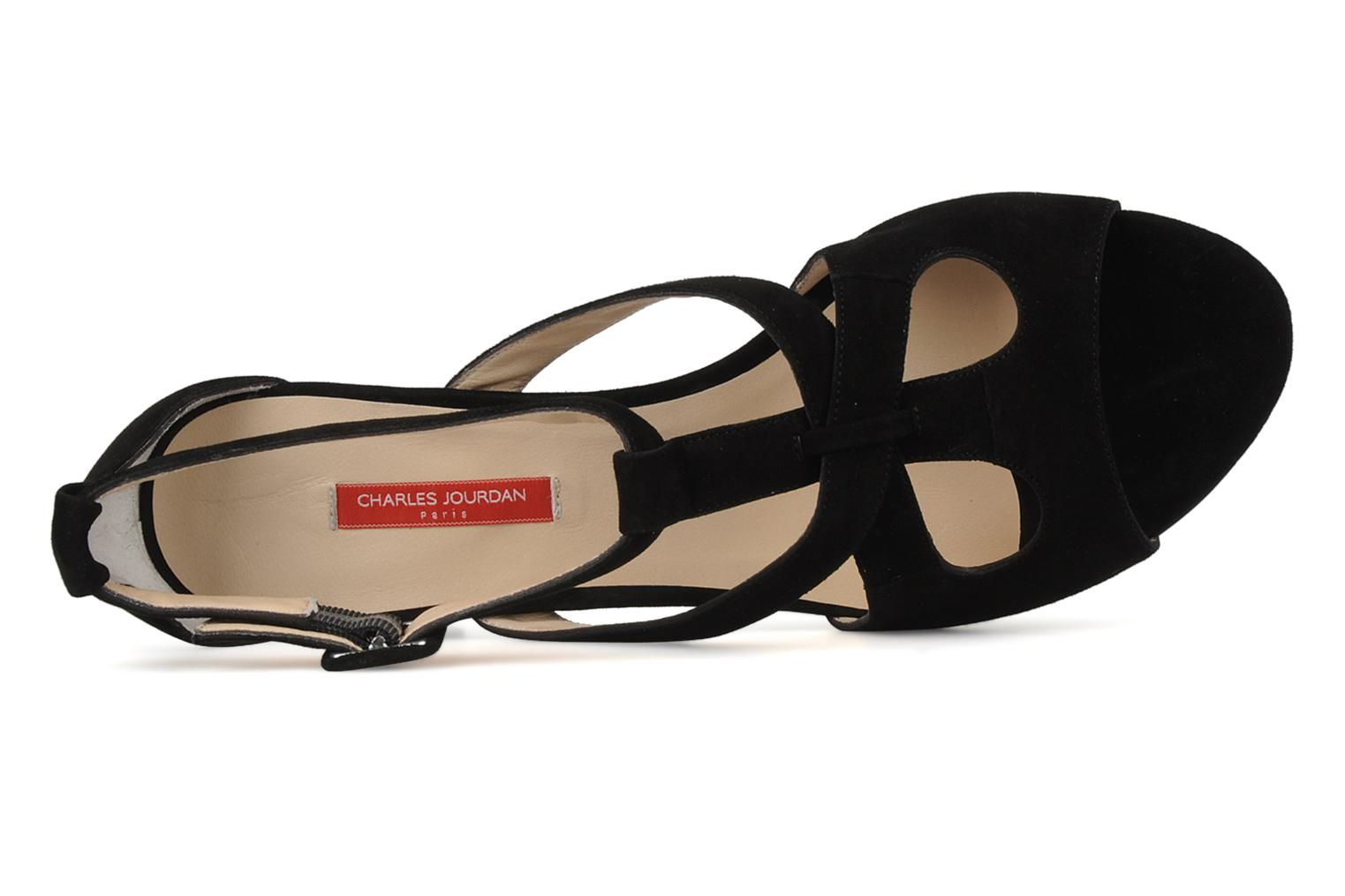 Sandals Charles Jourdan Kate Black view from the left