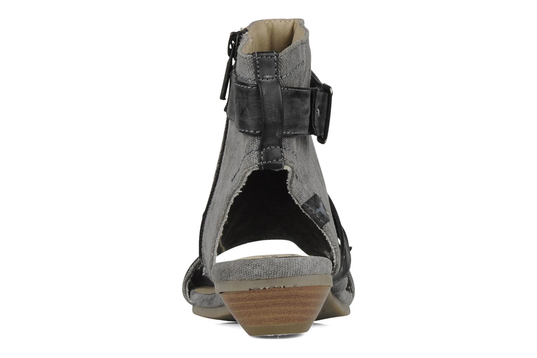 Sandalen Mustang shoes Xeba grau ansicht von rechts