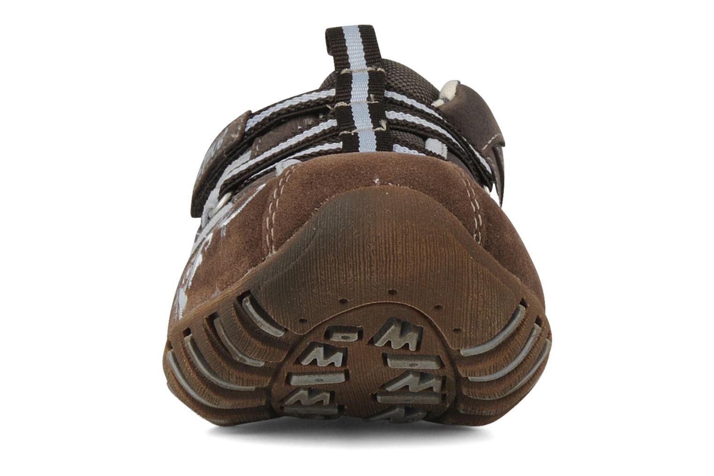 Baskets Mustang shoes Bache Marron vue portées chaussures