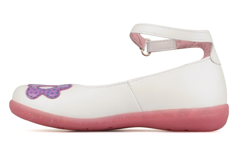 Ballerines Agatha Ruiz de la Prada Napa love baby Blanc vue face