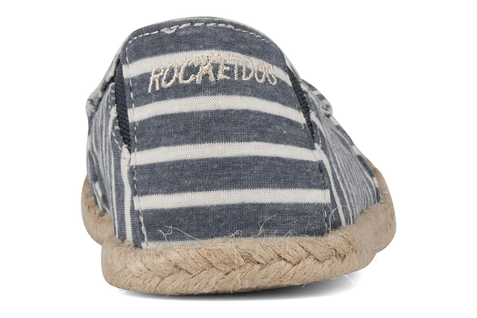 Espadrilles Rocket Dog Clover seaside stripe Blue view from the right