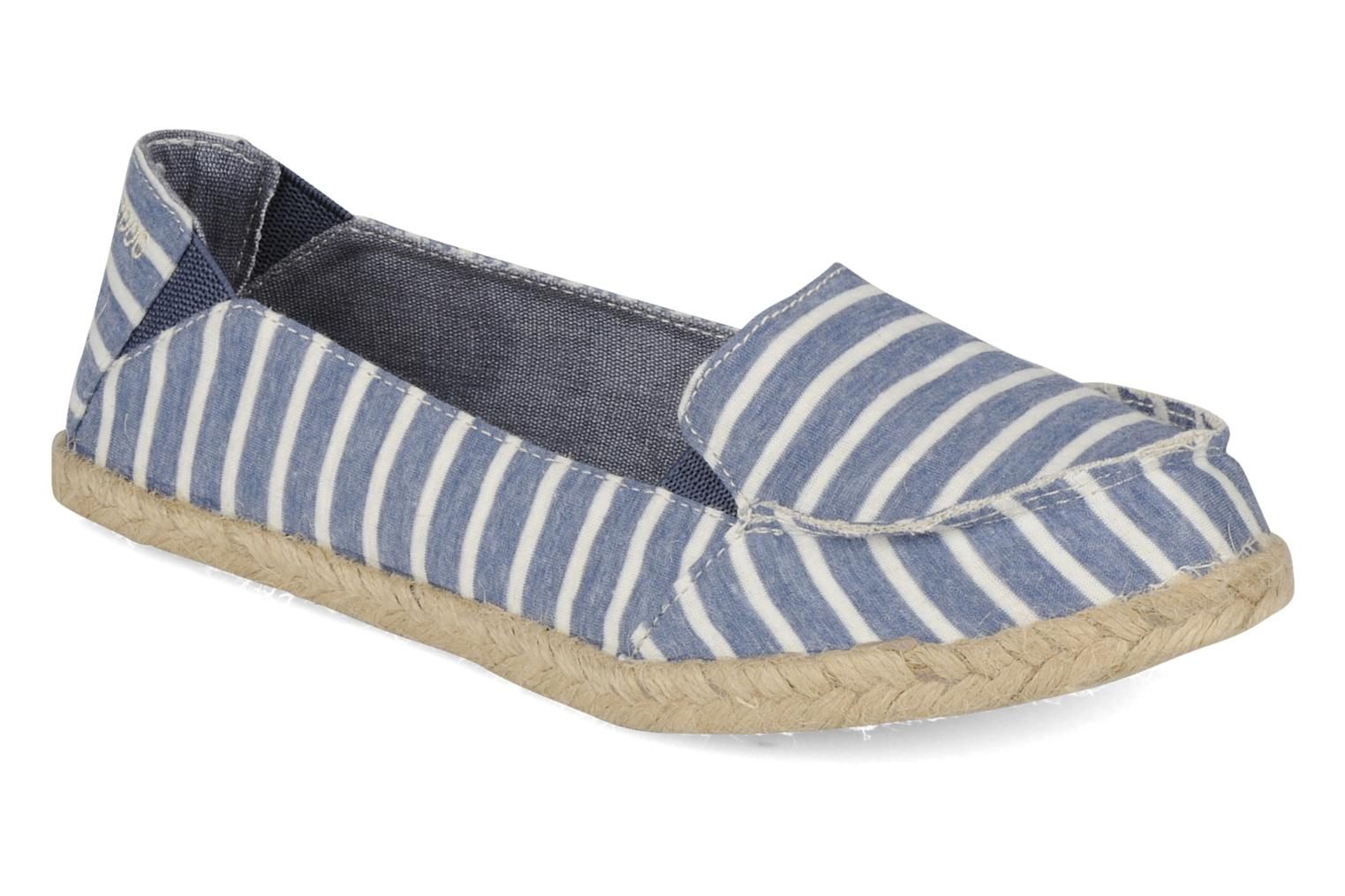 Espadrilles Rocket Dog Clover seaside stripe Blue detailed view/ Pair view