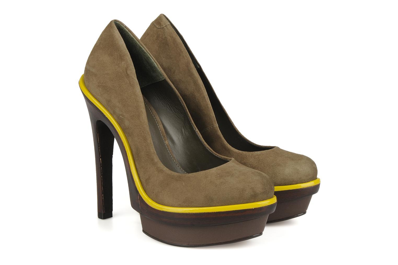 Zapatos de tacón Carvela Alpha Verde vista 3/4