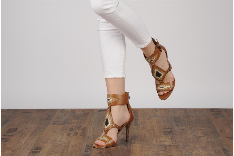 Sandales et nu-pieds Ash Helia Marron vue bas / vue portée sac