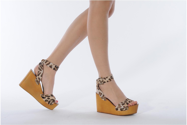 Sandales et nu-pieds Ash Vivian Multicolore vue bas / vue portée sac